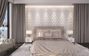 Спальная с 3д панелями