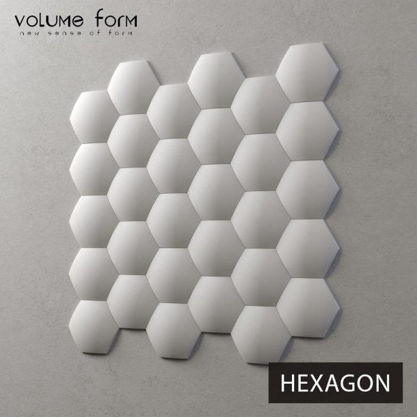 3д панели Hexagon от Volume Form