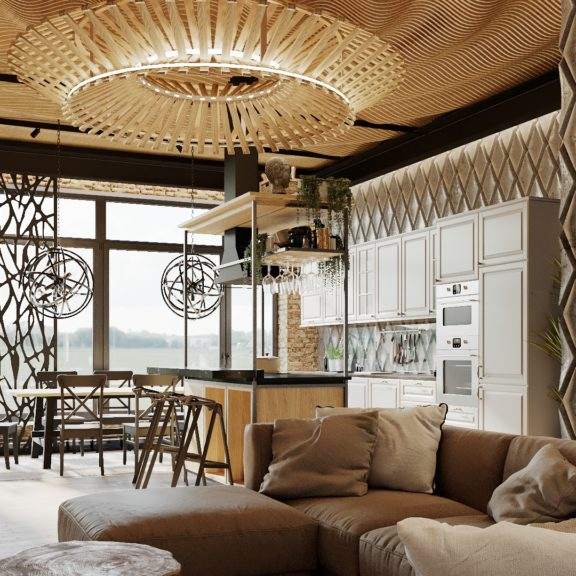 Рифлёный потолок под заказ