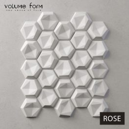3д панели Rose от Volume Form