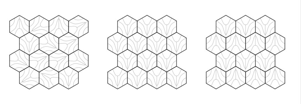 Возможные раскладки 3д панелей COSCMO