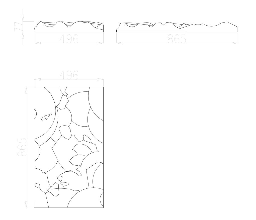 Размеры 3д панелей CLIFF