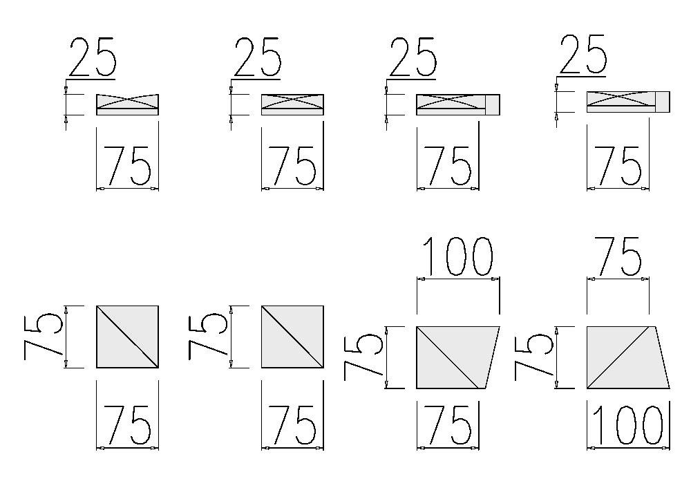 Размеры 3д панели pixel из коллекции DIY