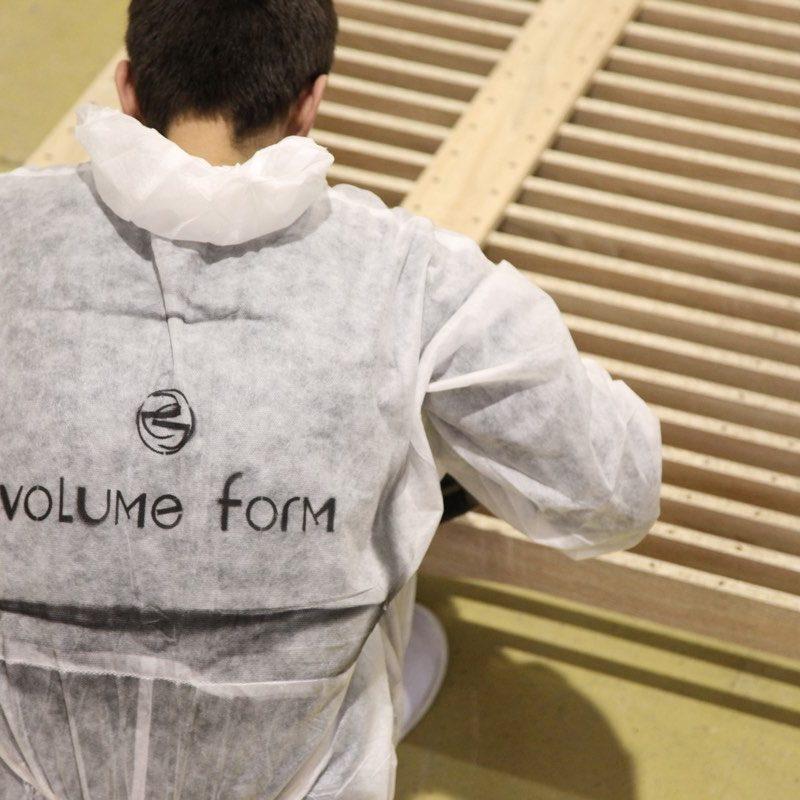 Монтаж реек Volume Form